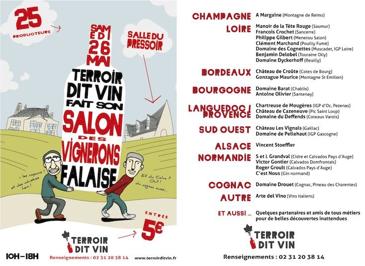 flyer salon des vignerons Terroir dit vin 2018